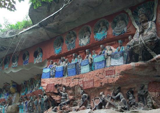 Dazu Rock Carvings Beishan Site: 栩栩如生的造像