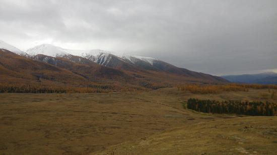 Habahe County, Chine : 雪山,秋色