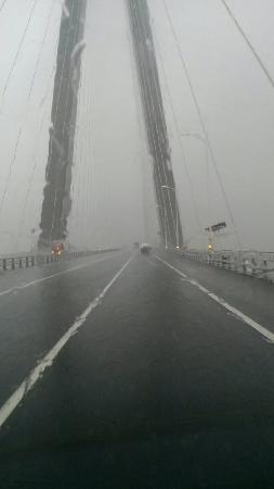 Sutong Changjiang Bridge: 雨中的苏通大桥