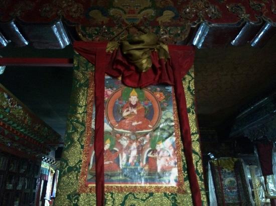 Maizhokunggar County, Κίνα: 直贡梯寺里的唐卡