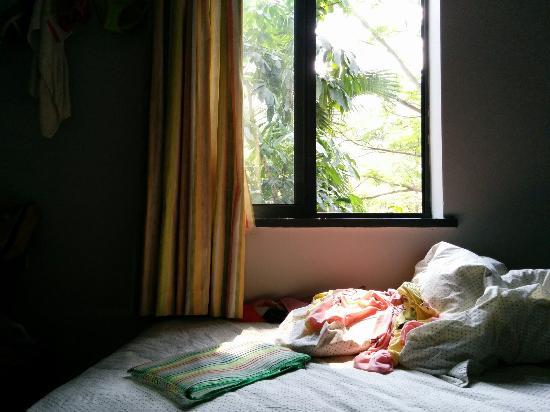 Shenzhen LOFT Youth Hostel: 三楼靠窗的床
