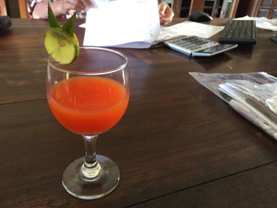 مينتاري سانور هوتل: 欢迎饮料