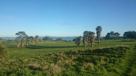 Ngarunui Beach : 湛蓝的天空,湛蓝的海水