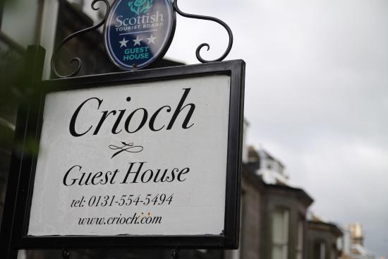 Crioch Guest House: 宾馆招牌