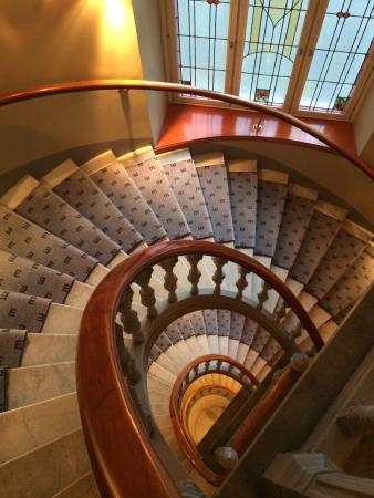 Elite Hotel Stockholm Plaza: 酒店内旋转楼梯