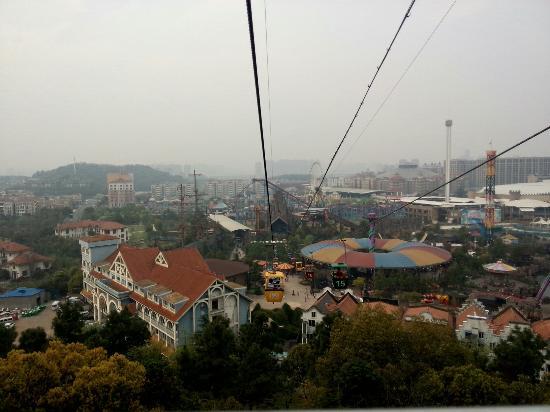 Hangzhou Songcheng Xianghu scenic spot : 坐过山车拍的,看着还不错吧!