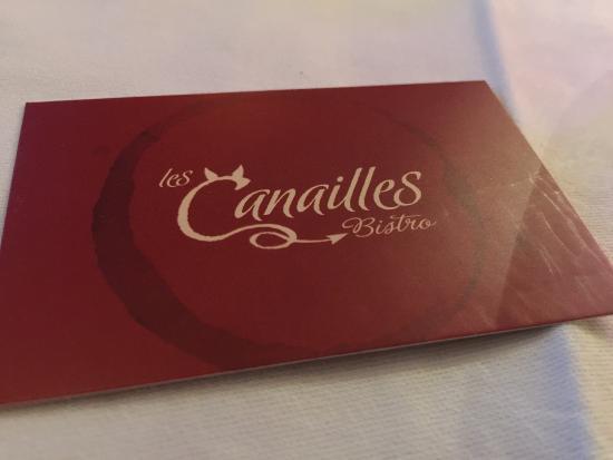 Bistro Les Canailles: card