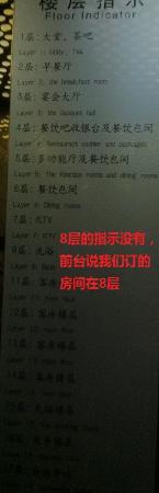 Pingquan County, China: 电梯里的楼层说明