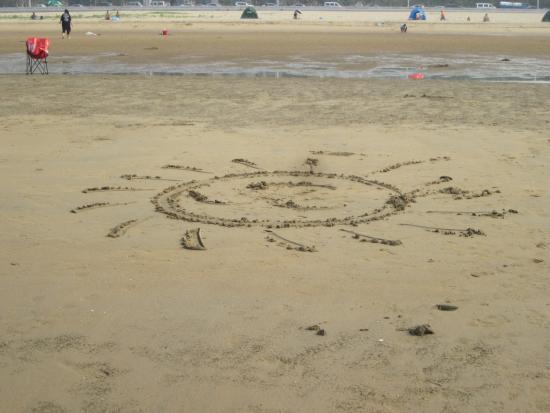 Yantai Gold Beach : 沙滩画