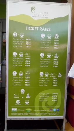 Papan Harga Tiket Picture Of Langkawi Sky Cab Langkawi