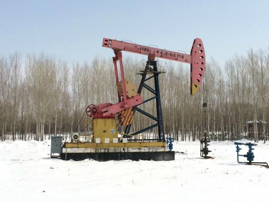 Daqing, China: 公园里的油井
