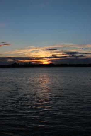Songhua River: 日落