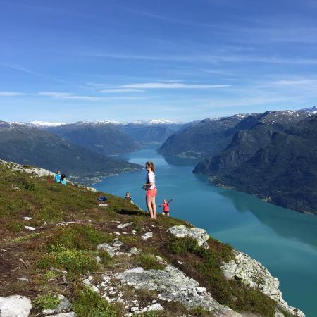 Hafslo, Норвегия: 山景