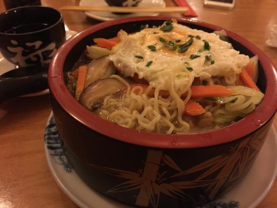 Restaurante Japones Sakura: 很好吃的素菜泡面