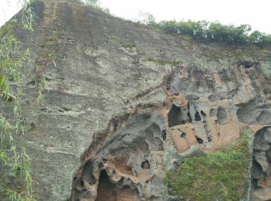 """Liuyang, Cina: 浏阳象形山景区的""""麒麟烂肚"""""""