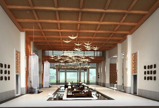 Dianbai County, China: 茂名浪漫海岸温德姆酒店大堂