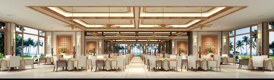 Dianbai County, China: 茂名浪漫海岸温德姆酒店望海全日餐厅