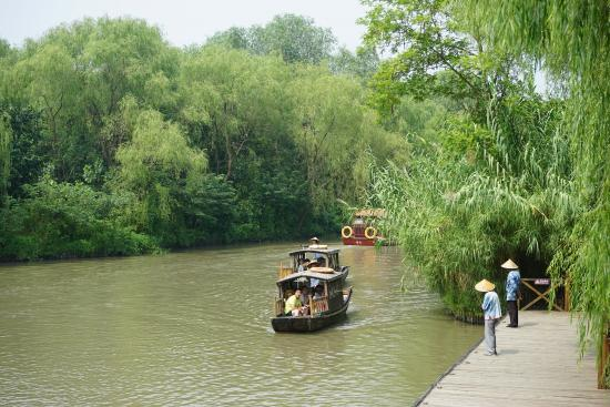 Jiangyan, China: 溱湖游船