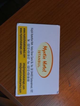 Mystic Hotel Biz Card