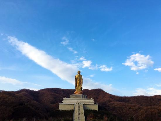 Lushan, Kina: 十二月 肃穆的美 虽然上了很多台阶 但是山色美极了 大佛脚下很宏伟 只是可能要提前买好香火 大佛景区里面管理和寺庙相比不是很完善