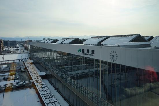 JR Inn Asahikawa: 窗外就是JR旭川站