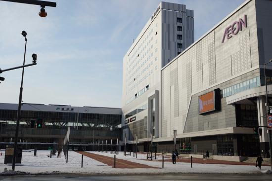 JR Inn Asahikawa: 酒店左边是车站右边是免税购物广场,超便利