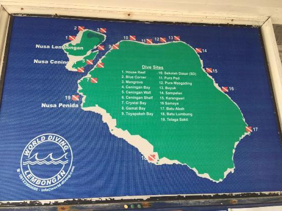World Diving Lembongan : dive sites