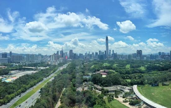 JW Marriott Hotel Shenzhen: Shenzhen city skyline - love this view