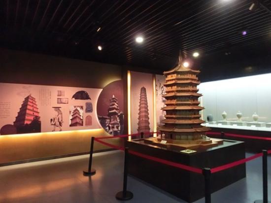 Xuchang Wenfeng Tower: 展厅内部