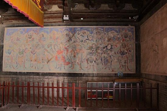 Weizhou Emperor Jade Cabinet : 具有精美的古代壁画