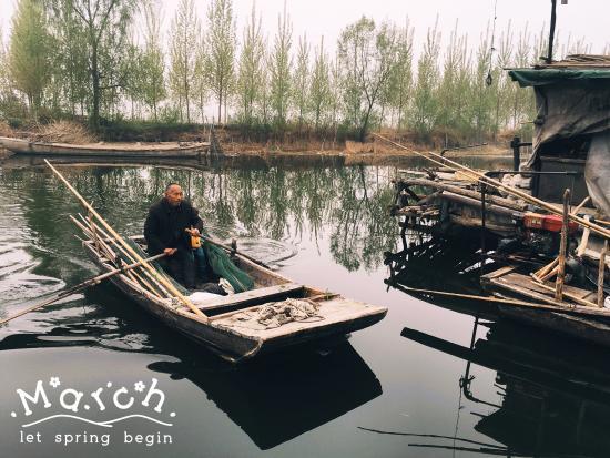 Weishan County, China: 微山湖畔