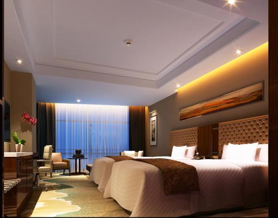 Shandong News Hotel: 商务标间  房间面积27平米,设有独立的卫生间,每间客房都有落地观景窗,泉城美景,尽收眼底。客房服务细微周到,每天您还可以在房间内读到最新的报纸。客房内设有生物酶健康系统、5A智能新风转换系统