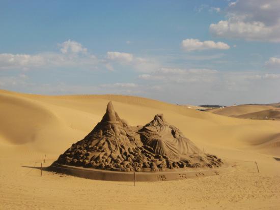 Dalate Qi, Kina: 沙漠里有很多的沙雕