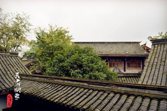 Qionglai, Китай: 从房间往外看