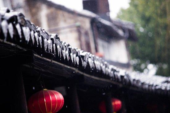 Jiashan County, Chine : 雨中的烟雨长廊
