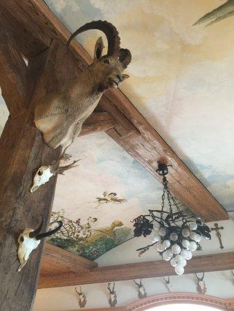 Schlossrestaurant Wasserburg: 这个是真的鹿头吗?