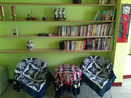 Xingcheng, Cina: 活动室书架
