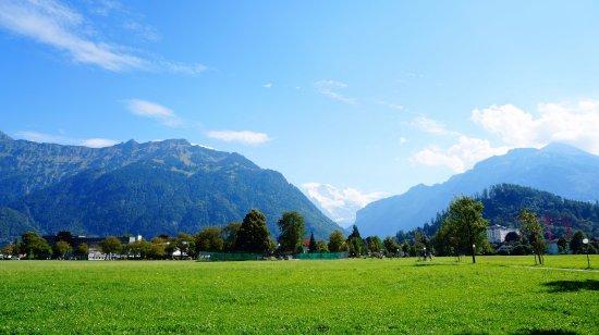 Matten bei Interlaken, Ελβετία: 因特拉肯远眺少女峰
