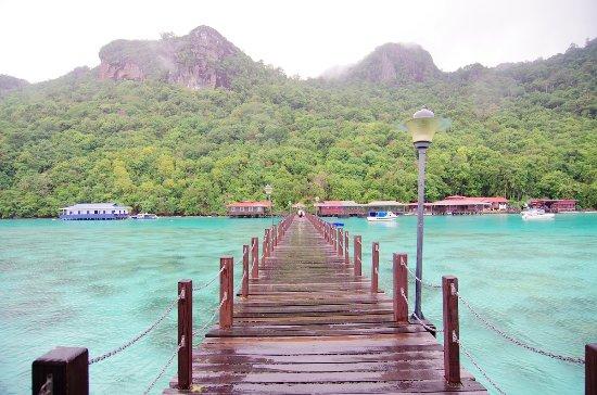 Semporna, Malaisie : 如果只是站在海平面,你只能看到这样的景色
