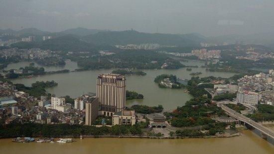 Huizhou, Kina: 遠眺小西湖美景