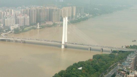 Huizhou, China: 東江大橋美景
