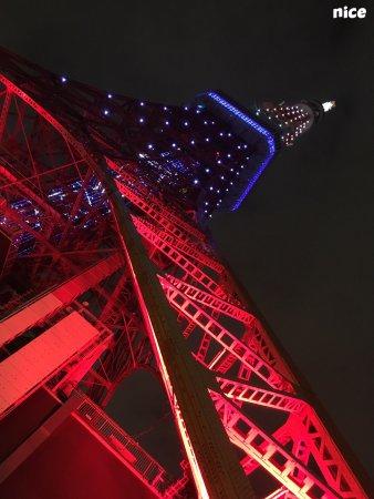 Tokyo Tower: 遇到台风关闭特别眺望台,是一个遗憾。