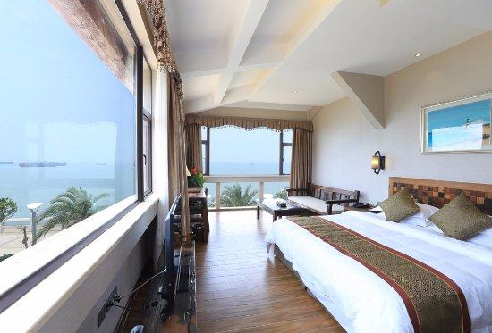 Beihai, Cina: 270度超豪华海景大床房