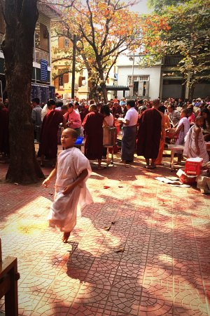 Amarapura, Myanmar: 仪式现场 小沙弥