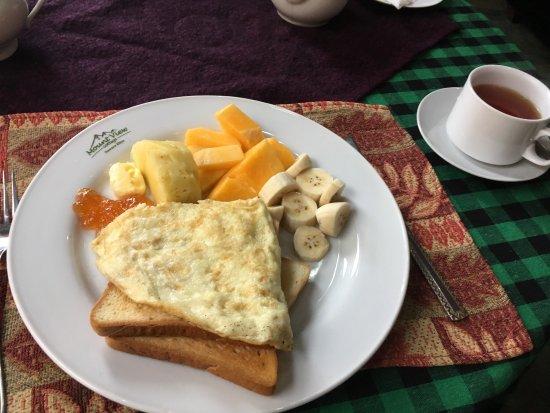 Mount View Hotel: 早餐  4美金每人