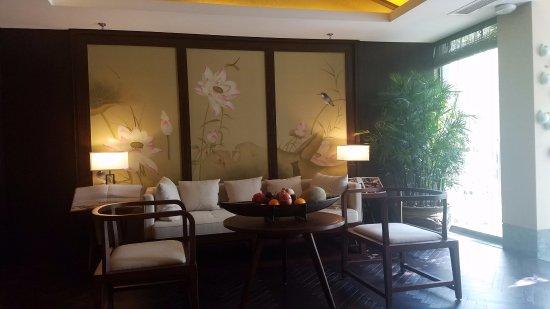 Anji County, China: Spa接待室
