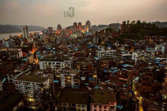 Wuzhou, Chiny: 照片是做旧的,一个城市的底蕴