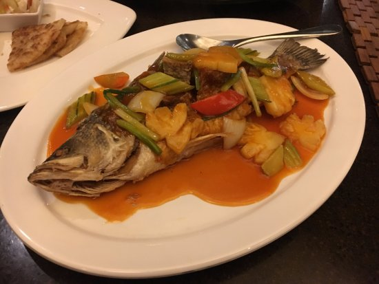 The Westin Siray Bay Resort & Spa Phuket: sweet and sour sauce sea bass