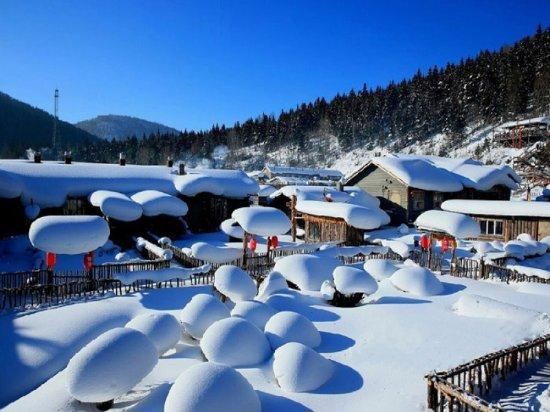 Hailin, Kina: 中国雪乡双峰林场