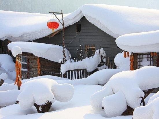Hailin, Kina: 中国雪乡双峰村